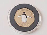 Falkland Island 2017 Southern Rockhopper Penguin 50p Fifty Pence With coa