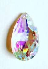 38mm Swarovski Strass  Aurora Borealis Teardrop Crystal Prisms Wholesale CCI