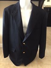 BROOKS BROTHERS VINTAGE DARK BLUE WOOL BLAZER WITH ORIGINAL BUTTONS