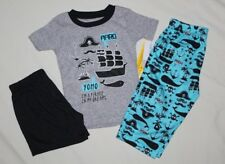 NEW~CARTERS TODDLER BOY 3 PIECE PIRATE PAJAMAS SIZE 12 MONTH