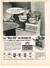 PUBLICITE ADVERTISING    1963   ARTHUR MARTIN  cuisinière gazinière bloc 60