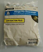Hinge Pin Doorstops Satin Nickel Finish Contractor pack. 25 Pack