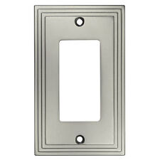 satin nickel single decora gfci rocker switch wall plate cover 25000sn