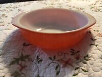 Vintage Pyrex 024 Quart Red Handled Round Casserole Dish Glass Bowl Oven Ware