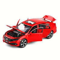 1:32 Honda 10th Civic FK8 Metal Diecast Model Car Toy Collection Sound&Light