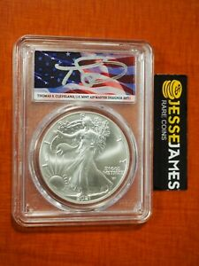 2021 SILVER EAGLE PCGS MS70 FLAG THOMAS CLEVELAND FIRST DAY OF ISSUE FDI TYPE 2