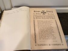 Antiquarian 1915 Bound German Frisian Islands? Historical Newspaper Collection