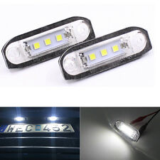 2Pcs White LED Number License Plate Light Lamp For Volvo S40 S80 S60 C70 V70 V50
