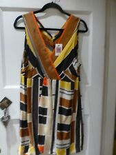 BNWT M&S AUTOGRAPH WEEKEND FLOATY NO SLEEVE TOP FAUX WRAP FALLS FROM BUS SIZE 22