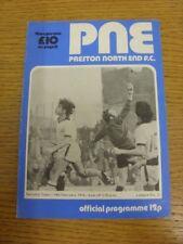 14/02/1976 Preston North End V Swindon Town (equipo cambios). si el artículo tiene una