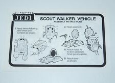 STAR WARS KENNER ORIGINAL SPARE INSTRUCTIONS 1983 ROTJ AT-ST SCOUT WALKER UK NL