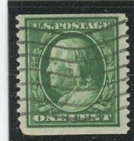 U.S. Stamps Scott #352 DL WMK,Used,F-VF, perf tear LL corner (X2526N)