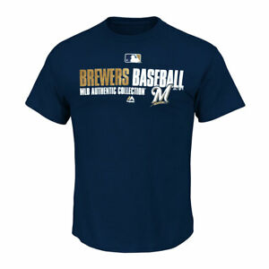 Milwaukee Brewers MLB Authentic Collection T Shirt - size small + Key Ring
