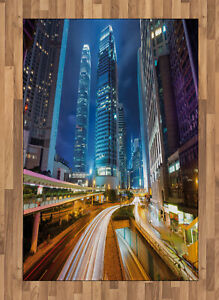 Città Tappeto Fast Cars Hong Kong urbano