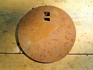 """ANTIQUE CAST IRON 7 27/32"""" WOOD COOK STOVE BURNER LID COVER PLATE GRATE"""