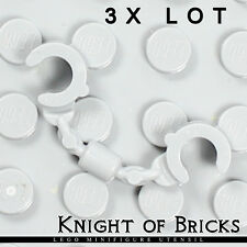 Lego 3x Lot Minifigure LIGHT GRAY Handcuffs City Police Army Soldier Tool
