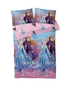 Disney Frozen 2 Destiny Awaits Double Duvet Cover Set Girls Bedding Set