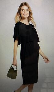 NWT Isabel by Ingrid & Isabel Black Womens Midi Dress Nursing Feature Size M