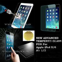 Genuine Premium Tempered Glass Film Screen Protector For Apple iPad 5/6 Air 1/2