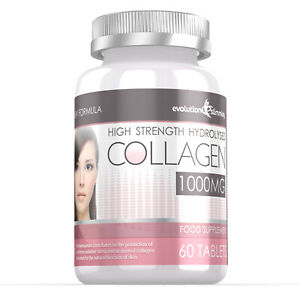 Hydrolysed Collagen High Strength 1000mg for Hair Skin & Nails 60 Tablets