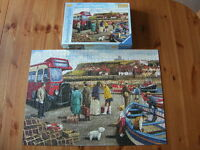 RAVENSBURGER PUZZLE Happy Days, Whitby - 1000 Piece Jigsaw Complete - VGC