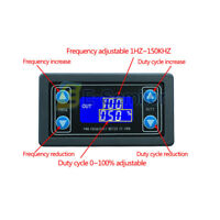 PWM Pulse Frequency Signal Generator Duty Cycle Square Wave Adjustable LCD Modul