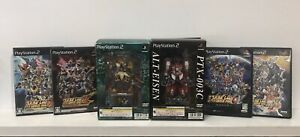 Super Robot Wars Taisen MX+Z+Special+Alpha 3+Impact++ PLAYSTATION 2 Import lot