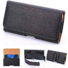 For Mobile Phone PU Leather Waist Hang Case Cover Belt Holster Clip Pouch Sleeve