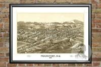 Old Map of Frankfort, NY from 1887 - Vintage New York Art, Historic Decor