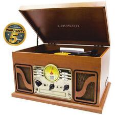 Giradischi Lettore Vinile Impianto Stereo Dischi Piatti Cassette Mp3 Usb Vintage
