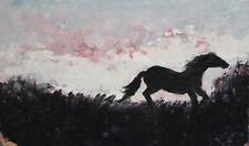VINTAGE OIL PAINTING LANDSCAPE HORSE
