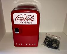 Coca-Cola Retro Mini Fridge Cooler/Warmer Koolatron Personal Fridge Model KWC-4