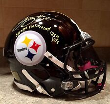 Le'Veon Bell LE BCA Game Issued Signed Steelers Pro Speed NFL Football Helmet SS