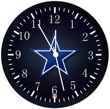 Dallas Cowboys Black Frame Wall Clock Nice For Decor or Gifts E132