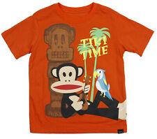Paul Frank Little Boy's Kids Julius Tiki Time Short Sleeve Tee T-Shirt, Orange