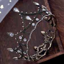 Vintage Retro Baroque Pageant Party Wedding Bridal Crystal Queen Crown Tiaras
