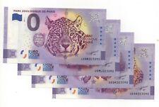 Erreur d'impression Anniversaire à tort - lot 4 billets 0 euro souvenir 2020
