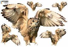 Aufkleber Eule Sticker Wandaufkleber Wandsticker Vogel Owl Bird Flur Küche Möbel