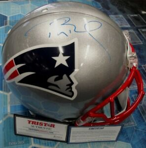 Tom Brady Hand Signed Autographed Authentic Speed Hemlet Patriots Steiner COA