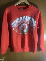 Vtg 1994 Wisconsin Badgers Rose Bowl Large (14-16) Red Crewneck Sweatshirt
