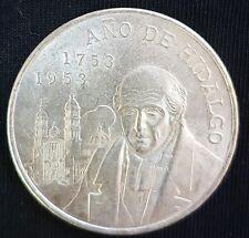 1953 Mexico 5 Pesos Silver Coin  (Bicentennial of Hidalgo's Birth)..