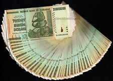 20 Billion Zimbabwe Dollars x 50 Banknotes AA AB 2008 ½ Bundle [50PCS] Currency
