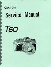 Canon T60 Service & Repair Manual Photocopy