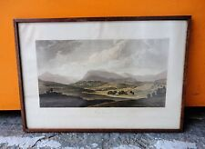 OLD VINTAGE FRAMED COLOURED LITHOGRAPH PRINT OF CARN GORM MOUNTAIN IN SCOTLAND