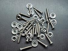 "25 pcs #8 x 1"" stainless kick panel door interior trim screws washers Mopar"