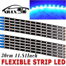 10X High Power 5050 Blue 30cm 12 LED Car Motor Flexible Strip Lights Waterproof