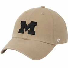 Michigan Wolverines NCAA '47 Brand Franchise L Beige Relaxed Fitted Cap Hat $30