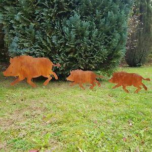 Edelrost Wildschwein Rost Dekoration Garten
