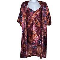 Vintage Innermost Floral Chemise nightie and robe set Medium missing belt