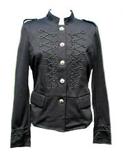 Black braided military jacket shirt top-14 drummer circus victorian steampunk